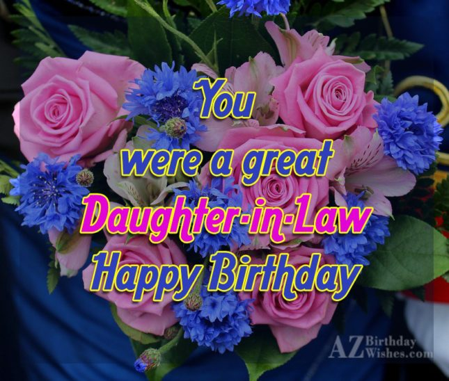You were a great daughter in law… - AZBirthdayWishes.com