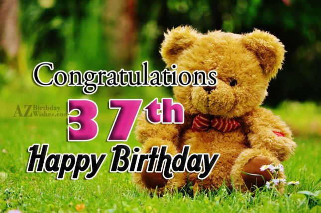37th birthday wish… - AZBirthdayWishes.com
