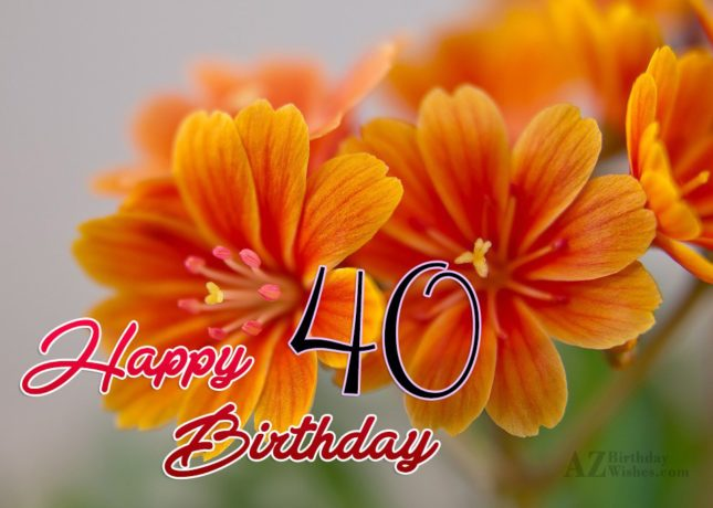 40th birthday wish… - AZBirthdayWishes.com