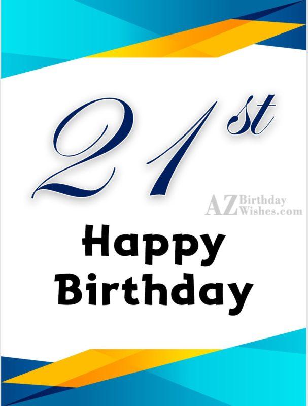 21st birthday wishes… - AZBirthdayWishes.com