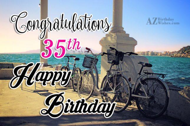 35th birthday wishes for guy… - AZBirthdayWishes.com