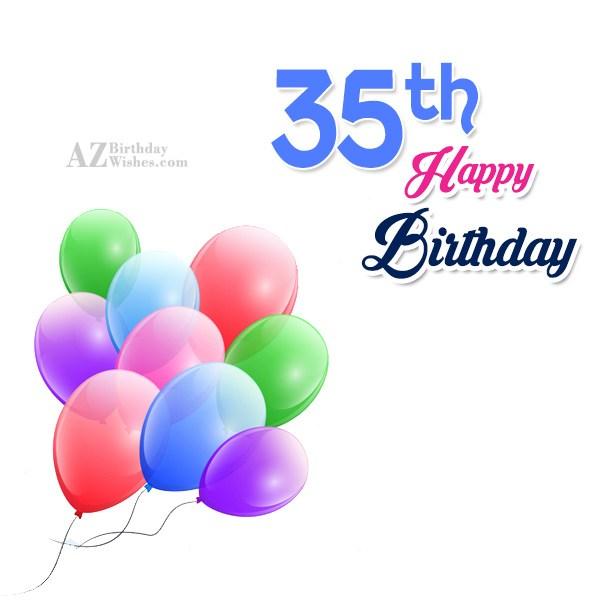 35th Birthday Wishes… - AZBirthdayWishes.com