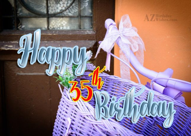 35th birthday wishes for girl… - AZBirthdayWishes.com