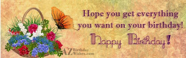 Birthday message with butterfly painting… - AZBirthdayWishes.com