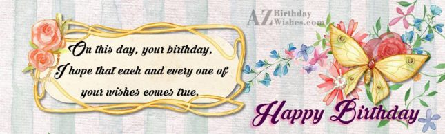 Beautiful butterfly card with birthday greeting… - AZBirthdayWishes.com