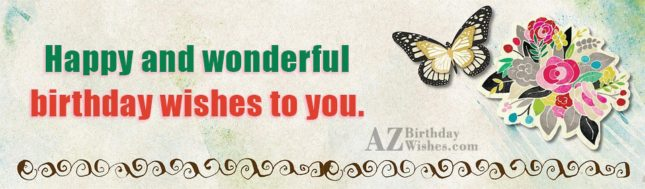 Wonderful birthday wishes with painting of butterfly… - AZBirthdayWishes.com