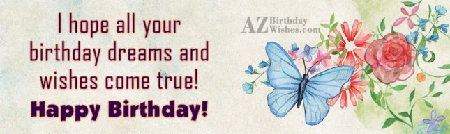 Birthday greetings with butterfly painted card… - AZBirthdayWishes.com