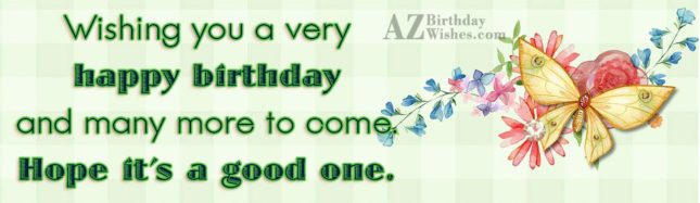 A very happy birthday with butterfly background… - AZBirthdayWishes.com