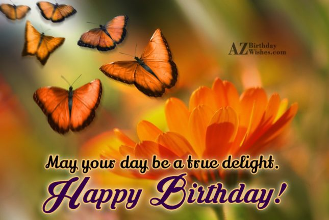 Birthday wish with butterfly flying… - AZBirthdayWishes.com