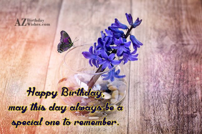 Colorful butterfly and birthday message… - AZBirthdayWishes.com