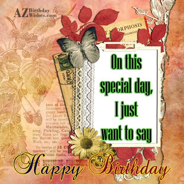 Birthday postcard… - AZBirthdayWishes.com