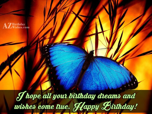 I wish all your birthday wishes come true… - AZBirthdayWishes.com