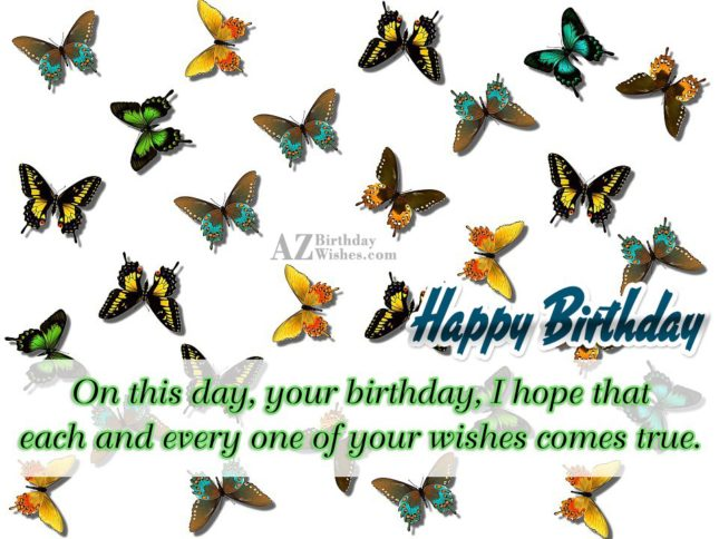 Butterfly background and birthday greeting… - AZBirthdayWishes.com