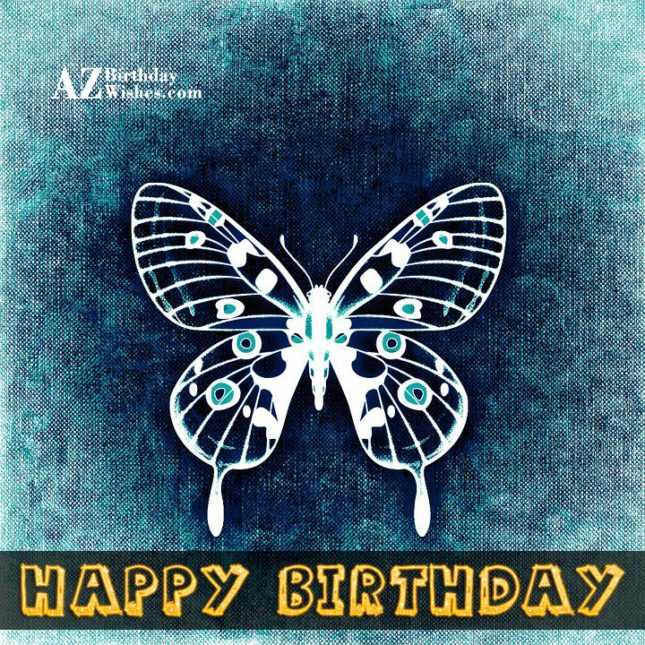 Vintage birthday card with butterfly… - AZBirthdayWishes.com