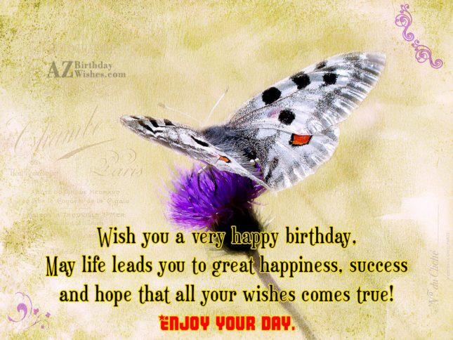 Wish you a very happy birthday… - AZBirthdayWishes.com