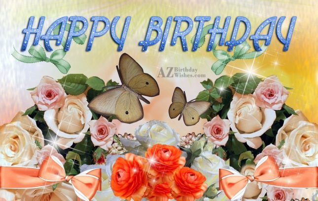 Birthday wish with sparkle background… - AZBirthdayWishes.com