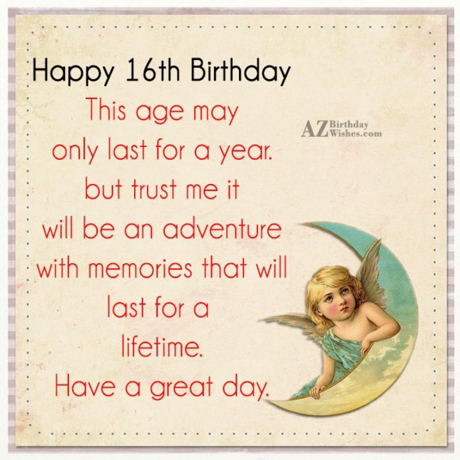 This age may only last for a year… - AZBirthdayWishes.com
