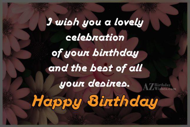 Birthday greeting on flower smileys… - AZBirthdayWishes.com