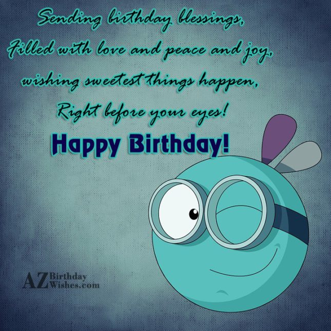 Birthday greeting with a naughty emoticon… - AZBirthdayWishes.com