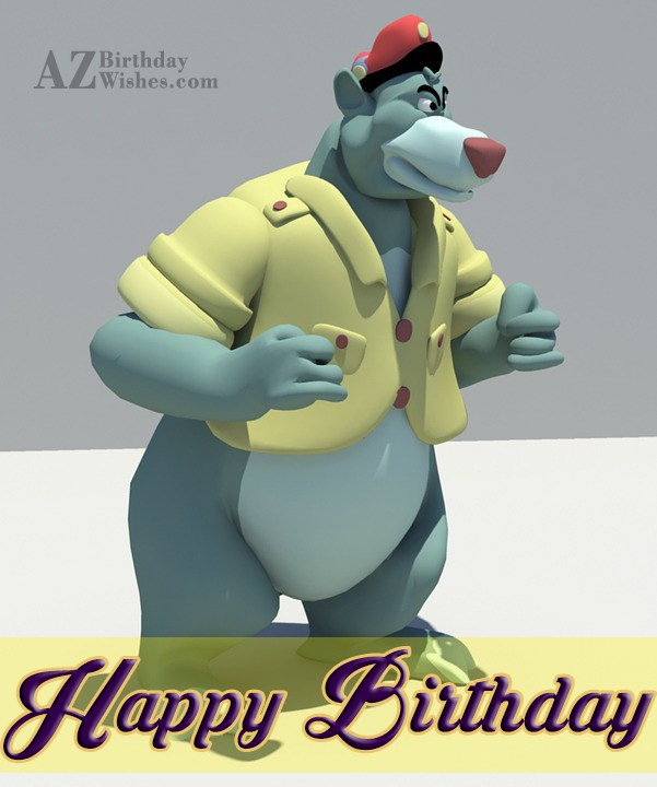 Happy birthday with Balloo… - AZBirthdayWishes.com