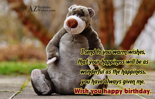Birthday greeting with bear… - AZBirthdayWishes.com