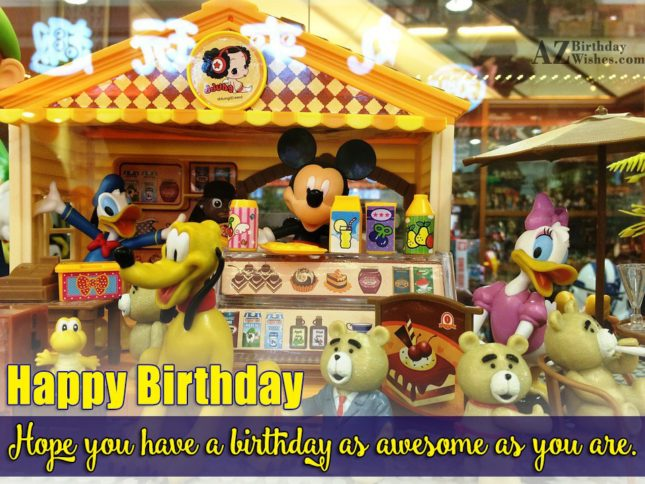 Birthday greeting with Mickey, Pluto set… - AZBirthdayWishes.com
