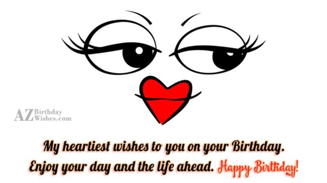 Birthday greeting with a girly emoticon… - AZBirthdayWishes.com