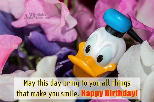 Birthday greeting with Donald Duck… - AZBirthdayWishes.com
