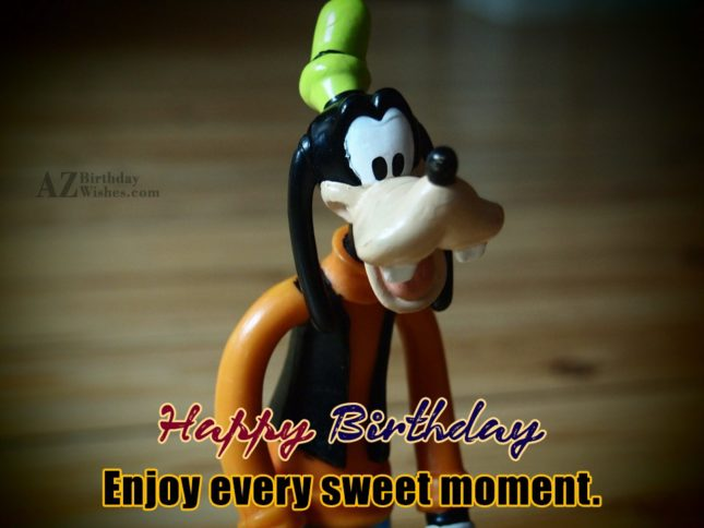 Happy birthday wish with Goofy toy… - AZBirthdayWishes.com