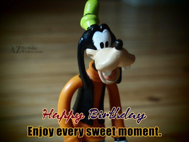 Happy birthday wish with Goofy toy… - AZBirthdayWishes.com