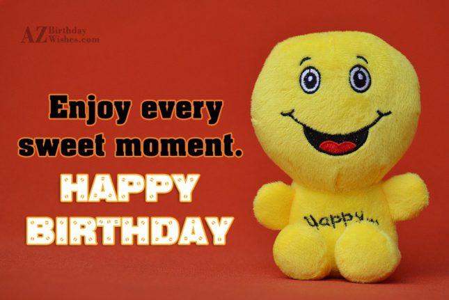 Birthday greeting on a cute stuffed toy… - AZBirthdayWishes.com