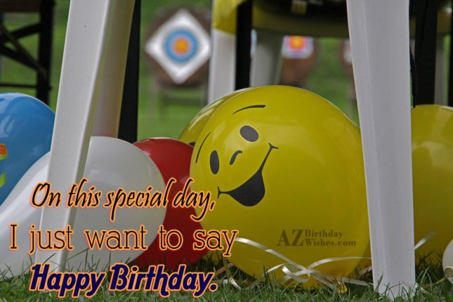 Birthday wish on a balloon… - AZBirthdayWishes.com