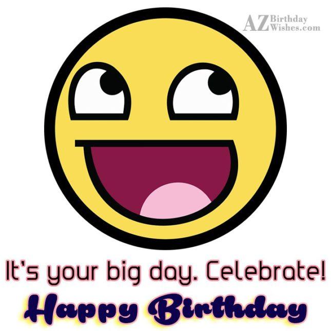 Happy birthday on laughing emoticon… - AZBirthdayWishes.com