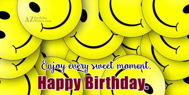 Happy birthday wish on smileys… - AZBirthdayWishes.com