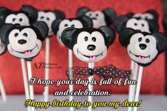 Birthday wish on Mickey mouse candy bars… - AZBirthdayWishes.com