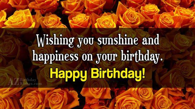 Birthday greetings with orange roses… - AZBirthdayWishes.com