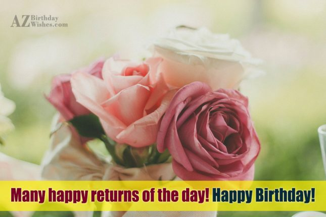 Birthday wish on beautiful roses… - AZBirthdayWishes.com