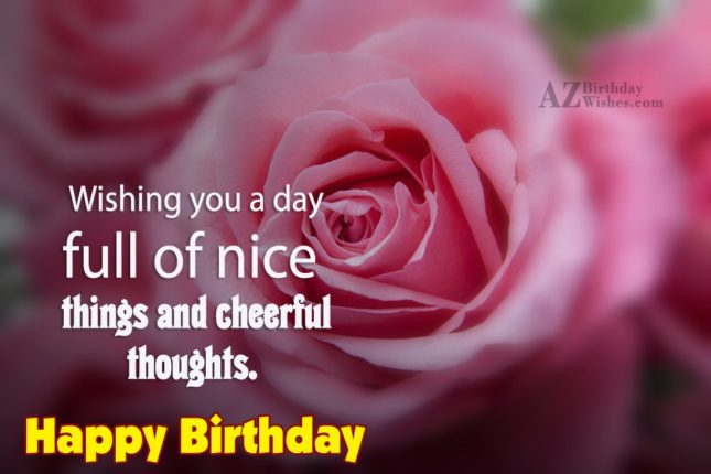 Birthday wish on pink flower… - AZBirthdayWishes.com