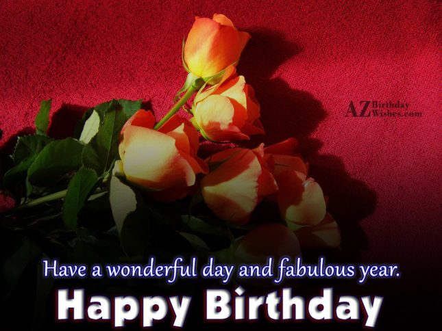 Happy birthday wish on red tulips… - AZBirthdayWishes.com
