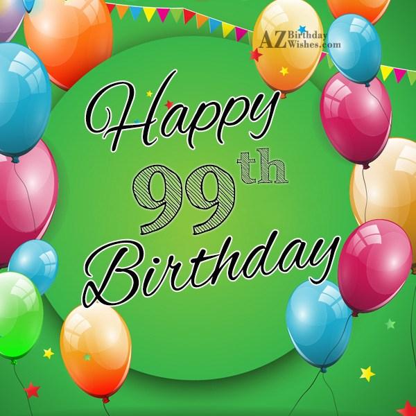 99th Birthday Wishes