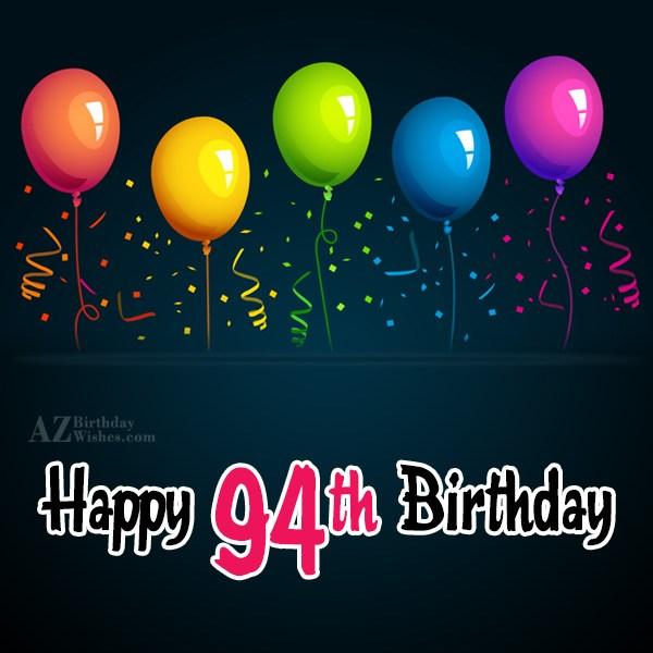 94th Birthday Wishes