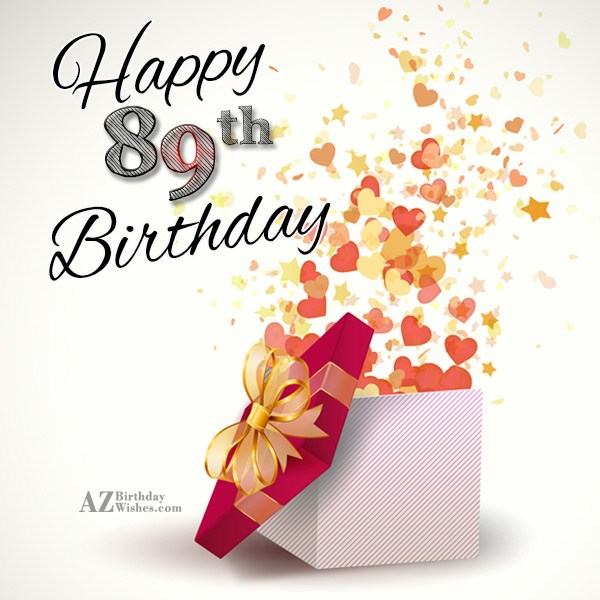 A very happy 89th birthday… - AZBirthdayWishes.com