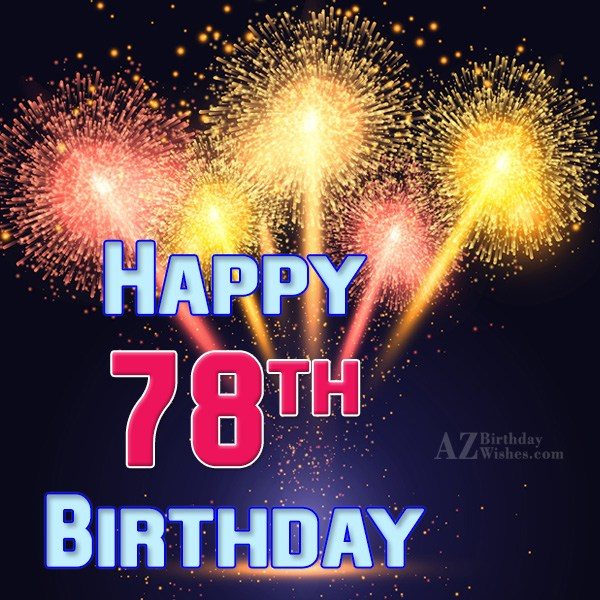 78th Birthday Wishes