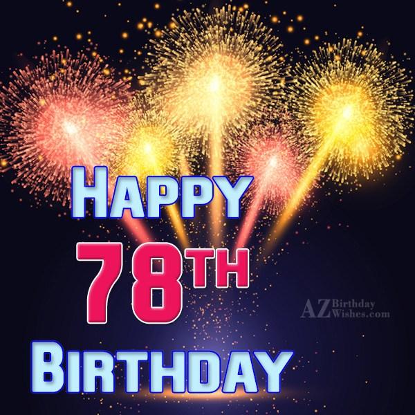 A very happy 78th birthday… - AZBirthdayWishes.com