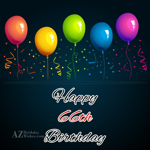 A very happy 66th birthday… - AZBirthdayWishes.com