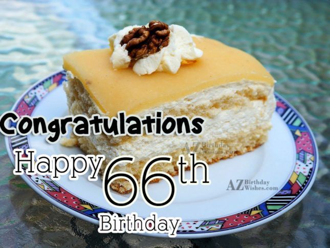Wishing you a very happy 66th birthday… - AZBirthdayWishes.com