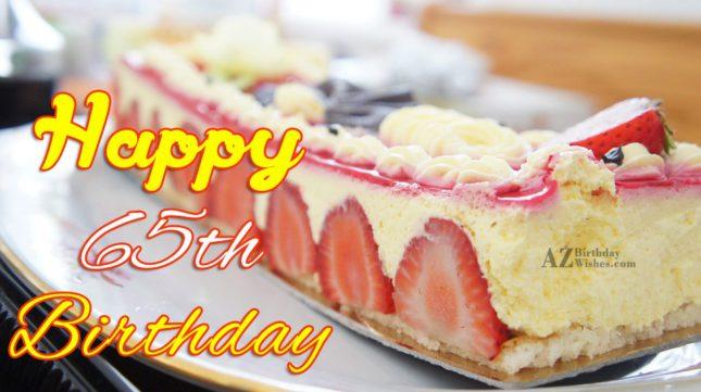 A very happy 65th birthday… - AZBirthdayWishes.com