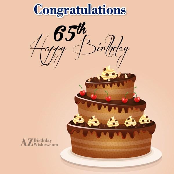 65th birthday greetings… - AZBirthdayWishes.com