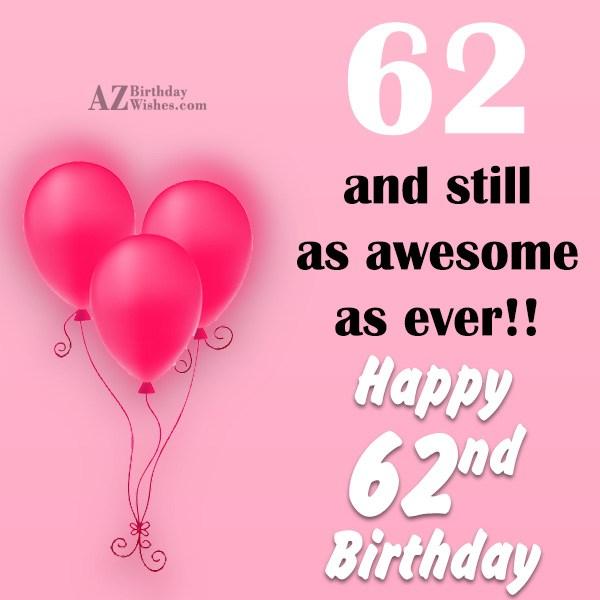 62nd birthday greetings m4hsunfo