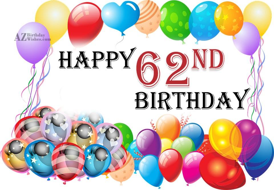 62nd birthday wishes m4hsunfo